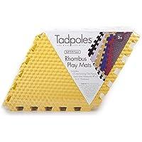 Tadpoles 12 Piece Rhombus Foam Play Mat Set, Yellow