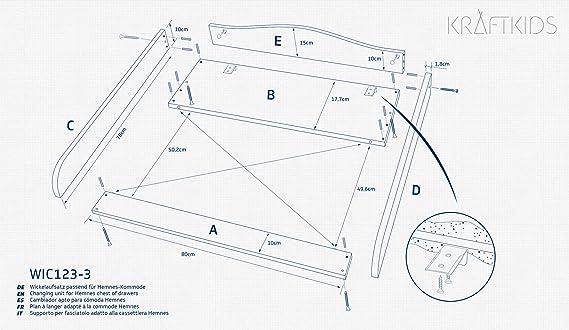 Cambiador para beb/é KraftKids Talla:Varianten Farbe blau