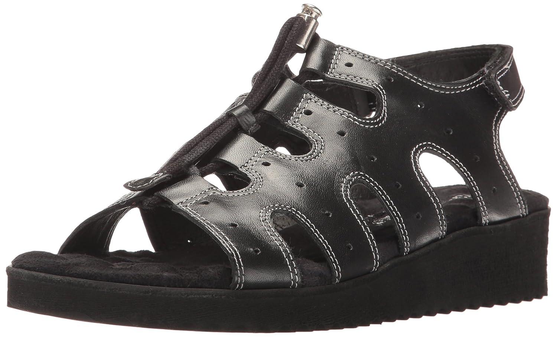 Walking Cradles Women's Harley Flat Sandal B00989759S 10 B(M) US|Black