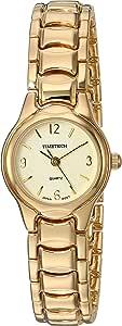 Viva Time Women's 2694L Timetech Panther Link Analog Display Japanese Quartz Gold Watch