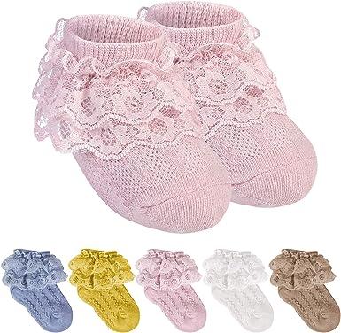 Baby Girls Frilly Bow Lace Tutu Socks Infant Newborn Toddler Ankle Sock 2020