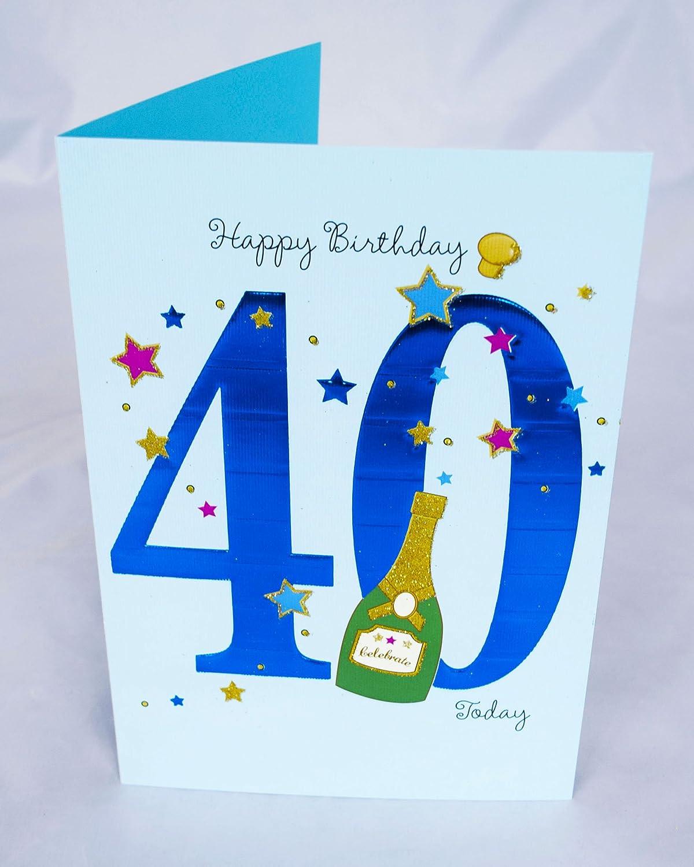 Blue Quality NEW 40th Birthday Card Male