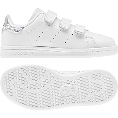 adidas Stan Smith CF C Kinderschuh White White Black