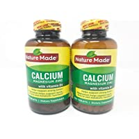 Nature Made Calcium Magnesium Zinc Tablets with Vitamin D, 300 Count (Pack of 2)
