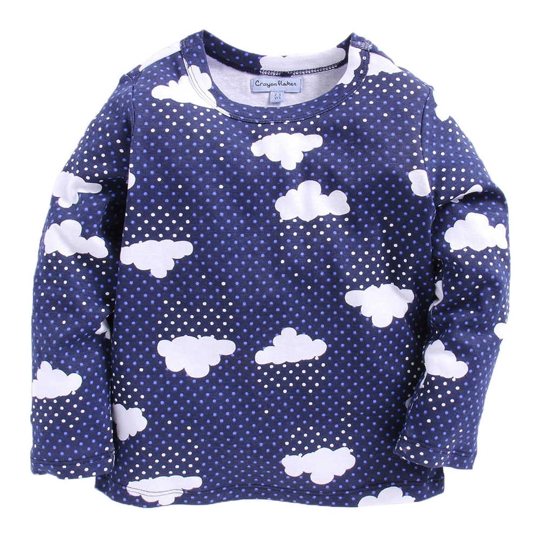 CrayonFlakes Stars on Black Half Sleeves Shirt