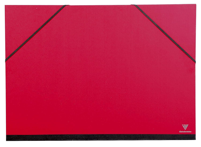 Fucsia Clairefontaine 44406C Cartella Porta Disegni con Elastico 52 x 72 cm