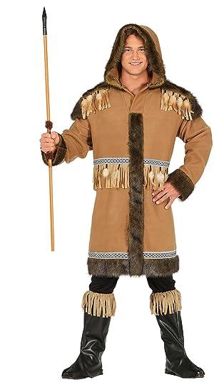 Guirca- Disfraz adulto esquimal, Talla 52-54 (88161.0 ...