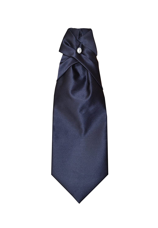 Made in Italy Remo Sartori Uomo Cravattone Plastron Cravatta Sposo Cerimonia in Seta Tinta Unita