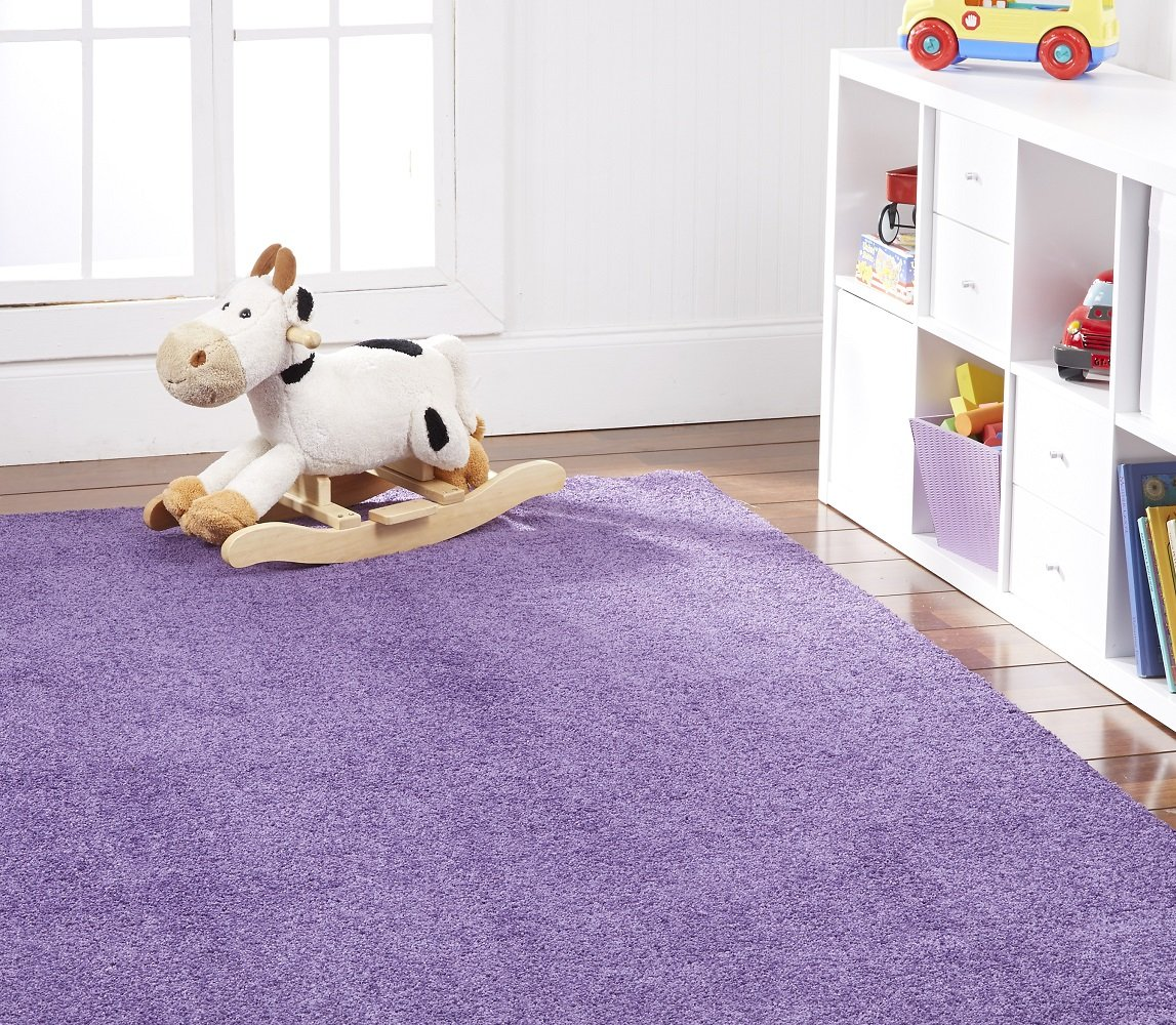 Nance Industries OurSpace Bright Area Rug, 6-Feet by 9-Feet, Playful Purple