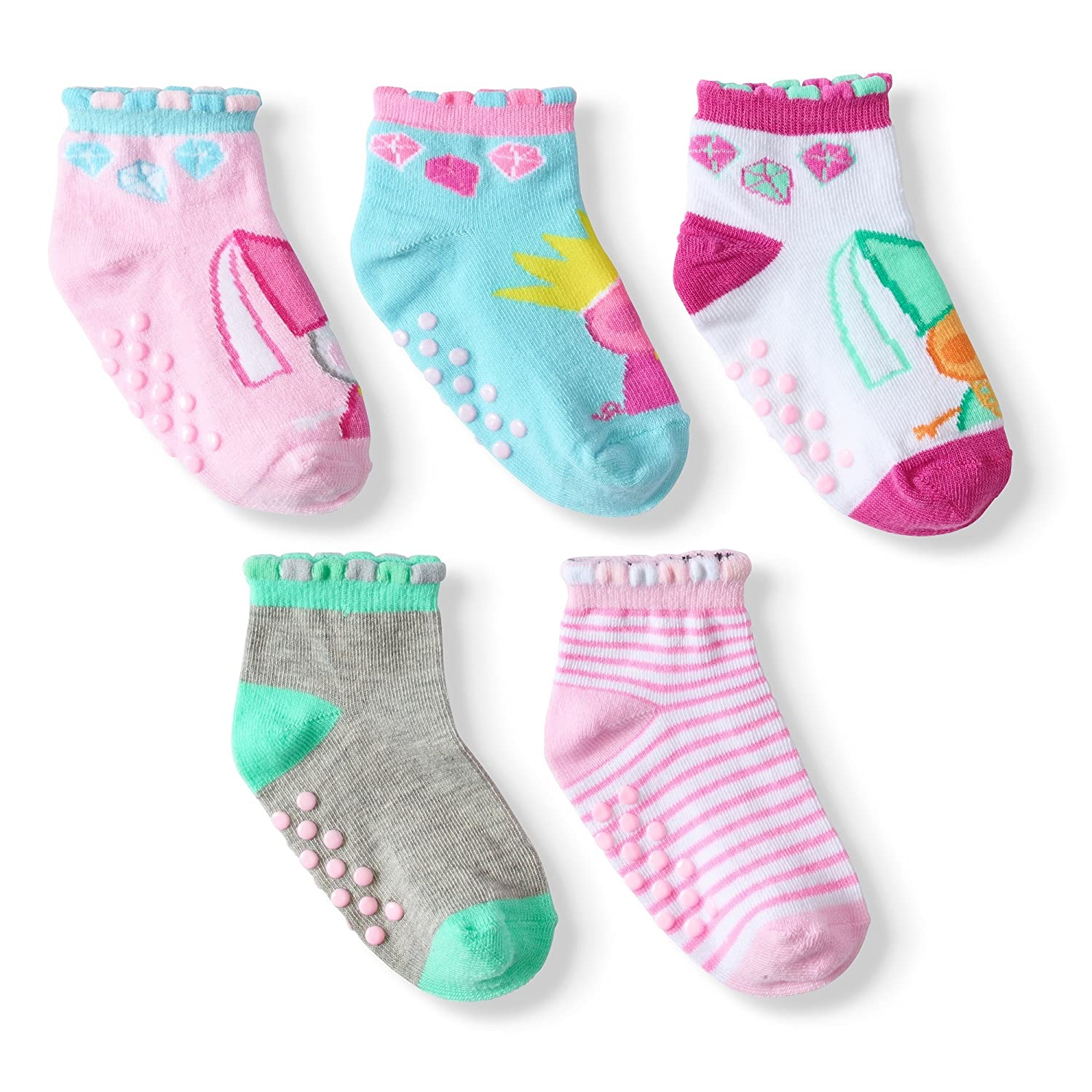 Amazon.com: Queen Peppa Quarter Socks -Baby-Toddler- Girl 5-pack (18-24 MONTS): Clothing