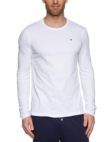 Tommy Hilfiger Flag Long Sleeve Logo Men s T-Shirt Bright White X-Large a106e0ed9fc5