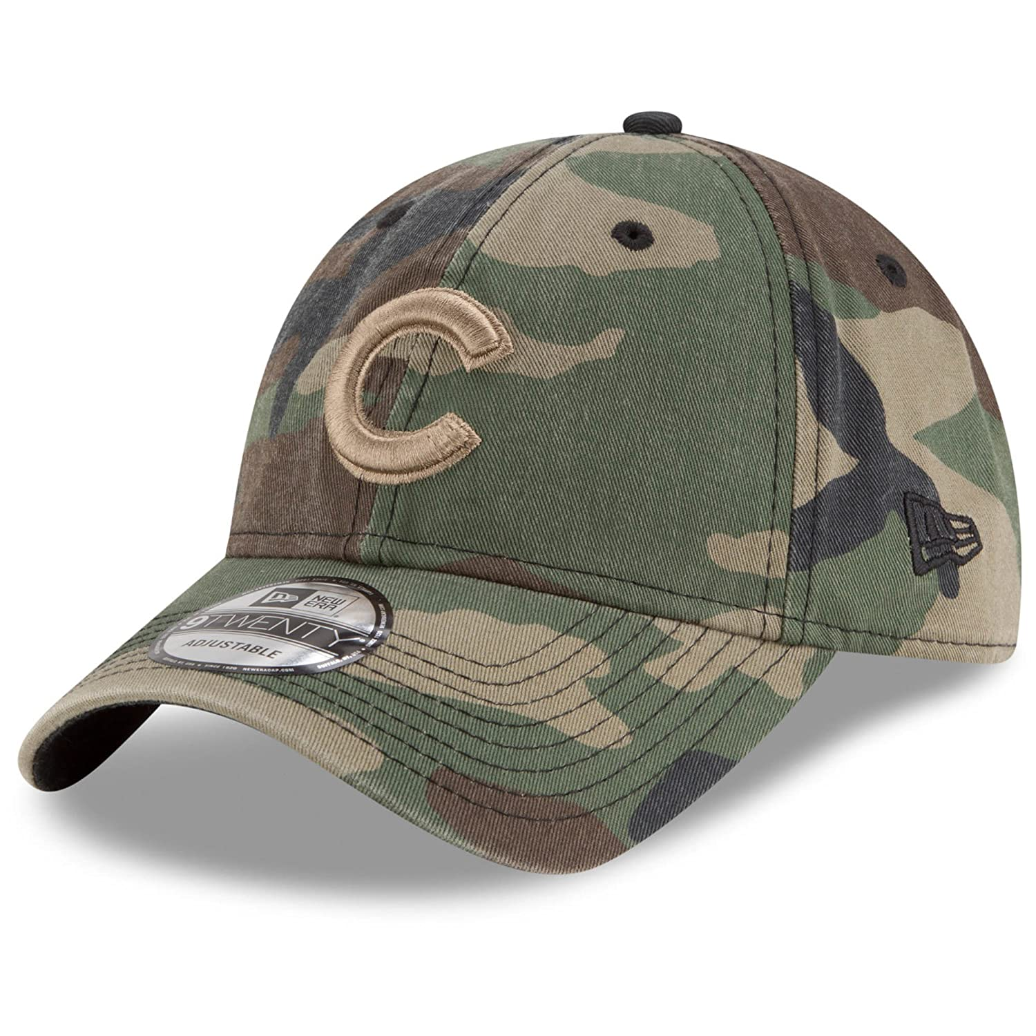hot sale online 98db5 4a235 Amazon.com   Chicago Cubs New Era Tonal Core Classic 9TWENTY Adjustable Hat  Camo   Sports   Outdoors