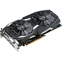 ASUS Radeon RX 580 O4G Dual-Fan OC Edition GDDR5 DP HDMI DVI VR Ready AMD 4GB Graphics Card (DUAL-RX580-O4G)