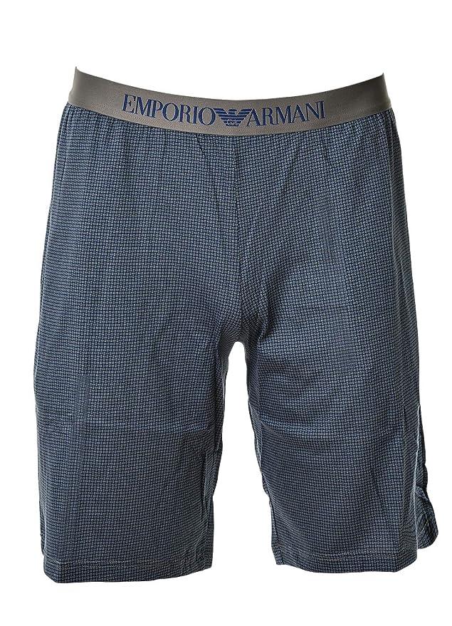 Emporio Armani Pijama de Hombre, Corto, Manga Corta, Liso con Estampado, S-XL - Azul Marino: Amazon.es: Ropa y accesorios