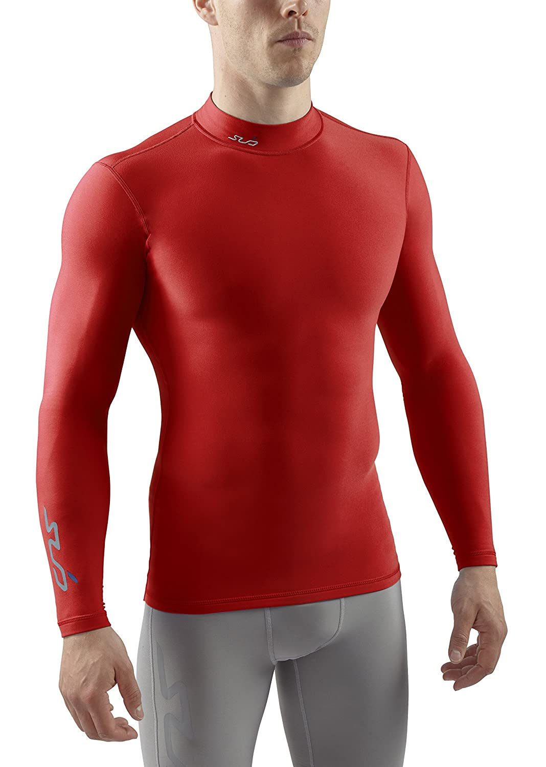 SUB Sports COLD Mens Compression Top - Mock Neck Long Sleeve Thermal Base Layer