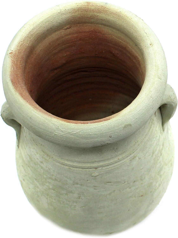 DARO DEKO Ton Pflanz-Gef/ä/ß Amphore /Ø 14cm x 20cm