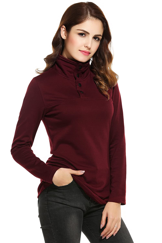 fe6a6a03813 ... Zeagoo Womens Plus-Size Long Sleeve Pullover Shirt   AMH007608 ...
