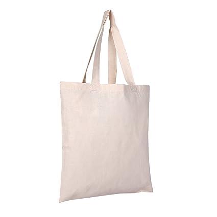 a900911bed75 Amazon.com  2 DOZEN (24-PACK) BagzDepot 100% Cotton Tote Bags