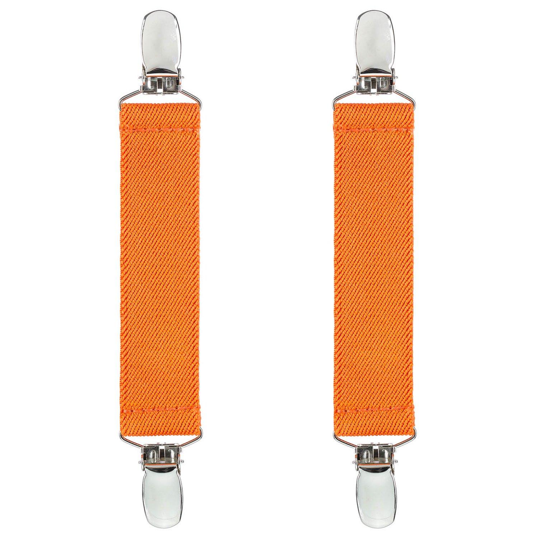 【ギフ_包装】 テキサスホールデムブートゴムストラップExtra StrongメタルクリップMade in USA快適、簡単に使用Keepingスムーズにパンツ B0774WKLMV オレンジ、Nicely Tucked Inブーツ Inブーツ – 4