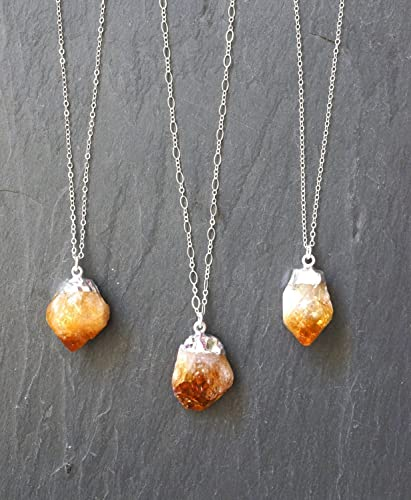 Amazon citrine necklace citrine crystal raw citrine citrine necklace citrine crystal raw citrine citrine jewelry custom length chain aloadofball Choice Image