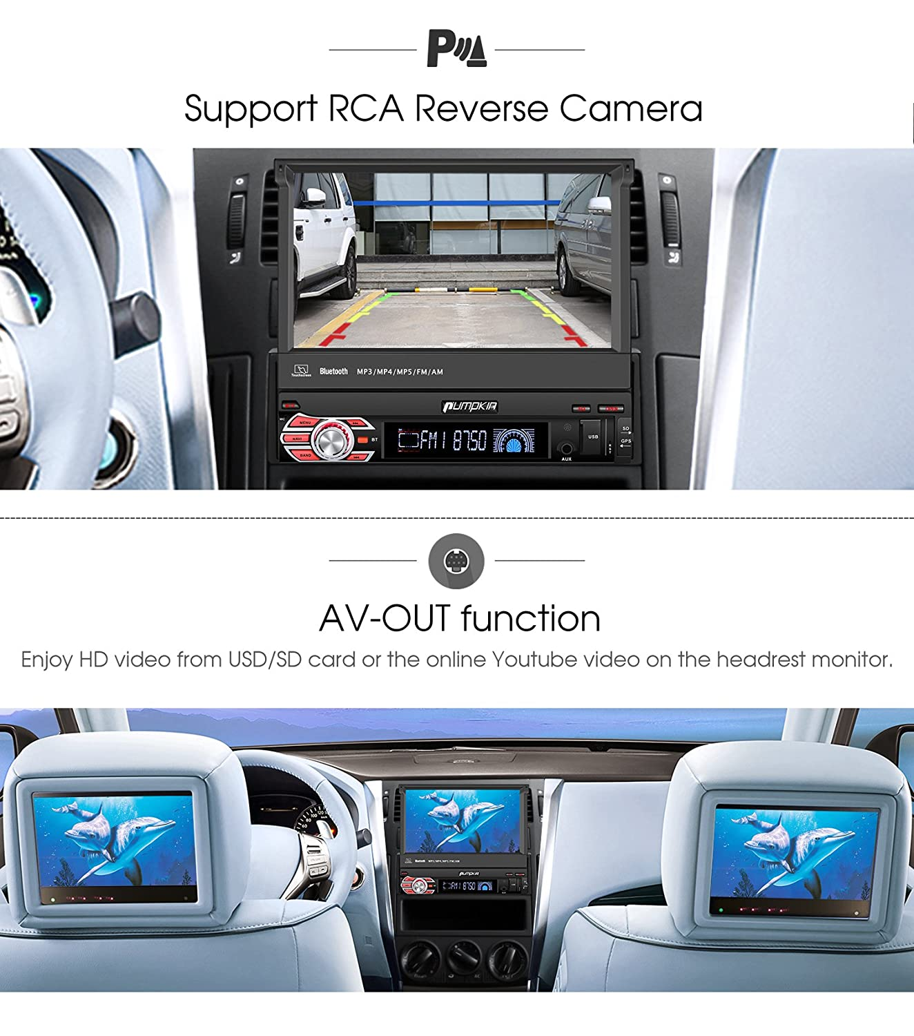 Pumpkin Android 71 Single Din Car Stereo Radio With 7 Head Unit Wire Harness Same As Computer Inch Flip Out Touch Screen Navigation Wifi Support Backup Camera Auto Aux