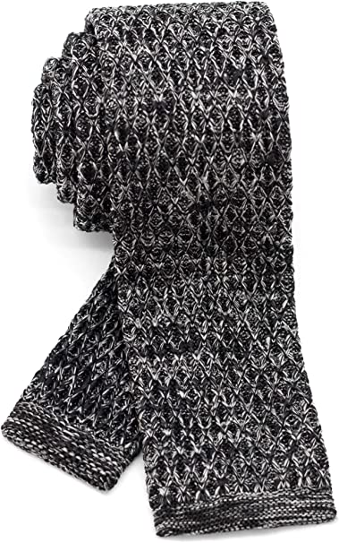 Men/'s Pointed Knit Tie Necktie Width 2.75 inches Washable Solid Color and