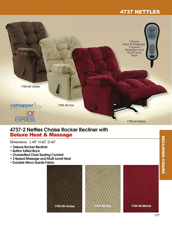 Awe Inspiring Amazon Com Catnapper Nettles Chaise Rocker Recliner W Heat Creativecarmelina Interior Chair Design Creativecarmelinacom