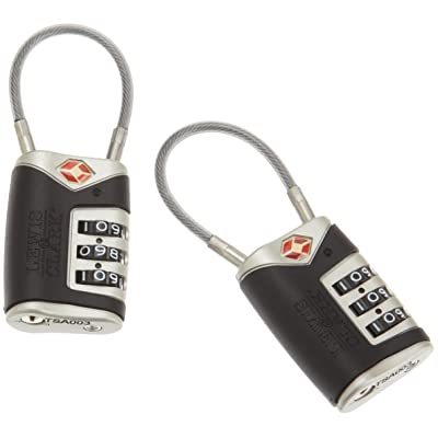 4014648 Lewis N Clark Travel Sentry Cable Lock 2 Pack black