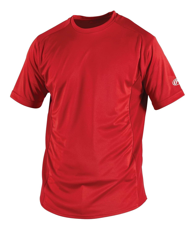 Rawlings Herren Short Sleeve Baselayer Shirt, Unisex - Erwachsene Herren, scharlachrot, XXX-Large