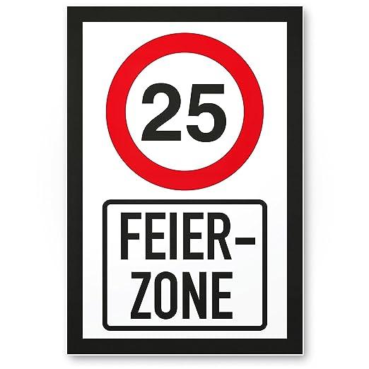 DankeDir!. 25 años Fiesta Zona - Letrero, plástico Regalo 25 ...