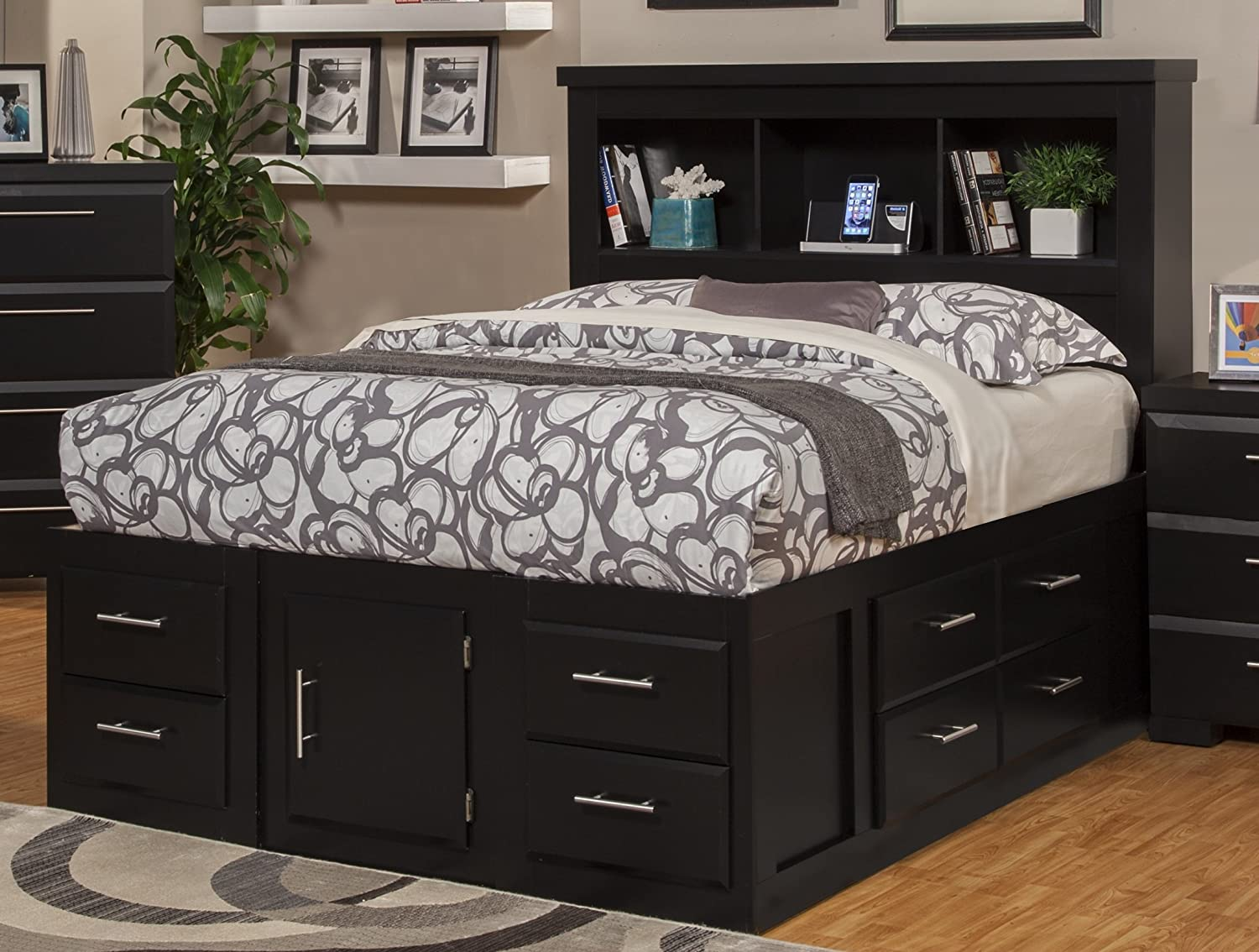ideas drawers frame white queen and with bed beds platform attractive storage