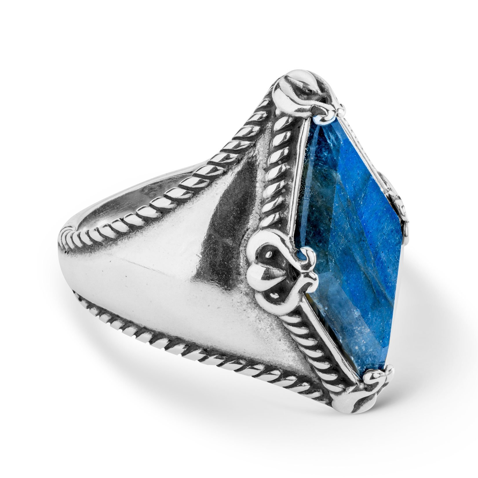 Carolyn Pollack 925 Sterling Silver Faceted Labradorite Ring - 6