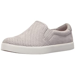 Dr. Scholl's Shoes Women's Madison Sneaker, Grey Cloud Microfiber Perforated, 6.5 M US