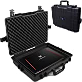 Casematix Waterproof Laptop Hard Case for 15-17 inch Gaming Laptops and Accessories - Rugged Heavy Duty Laptop Case for…