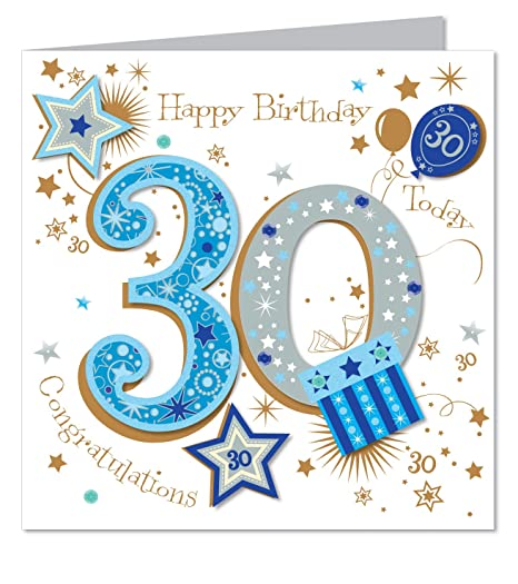 Large luxury handmade 30th birthday card male amazon large luxury handmade 30th birthday card male bookmarktalkfo Images