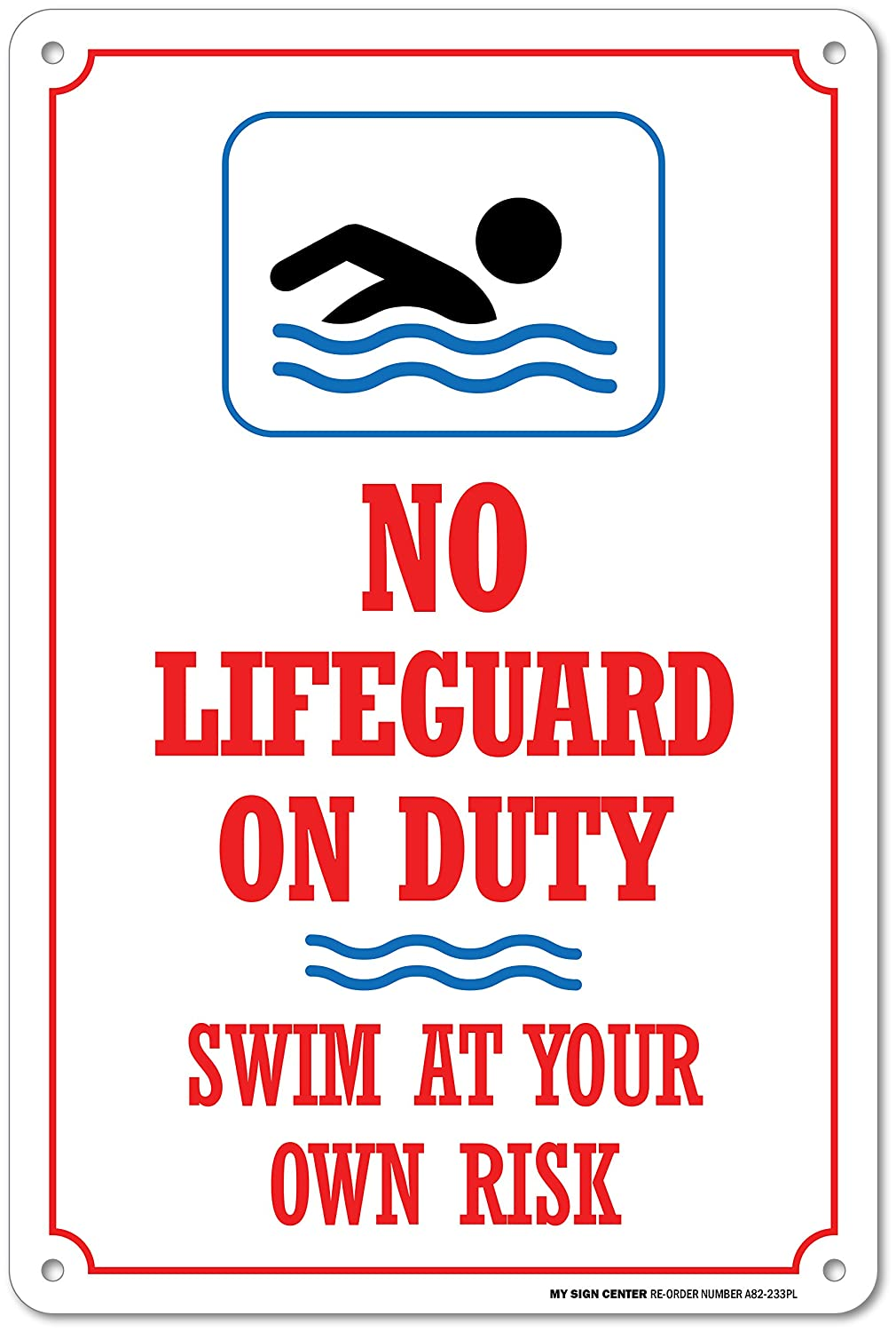 59e9916c3195 No lifeguard on duty swim at your own risk safety sign pool rules jpg  1010x1500 Swim