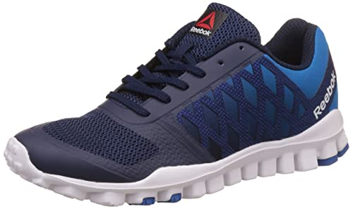 ecf9042a3 Reebok Men's Realflex Tr Lp Coll Navy, Cycle Blue and Wht Walking Shoes - 6