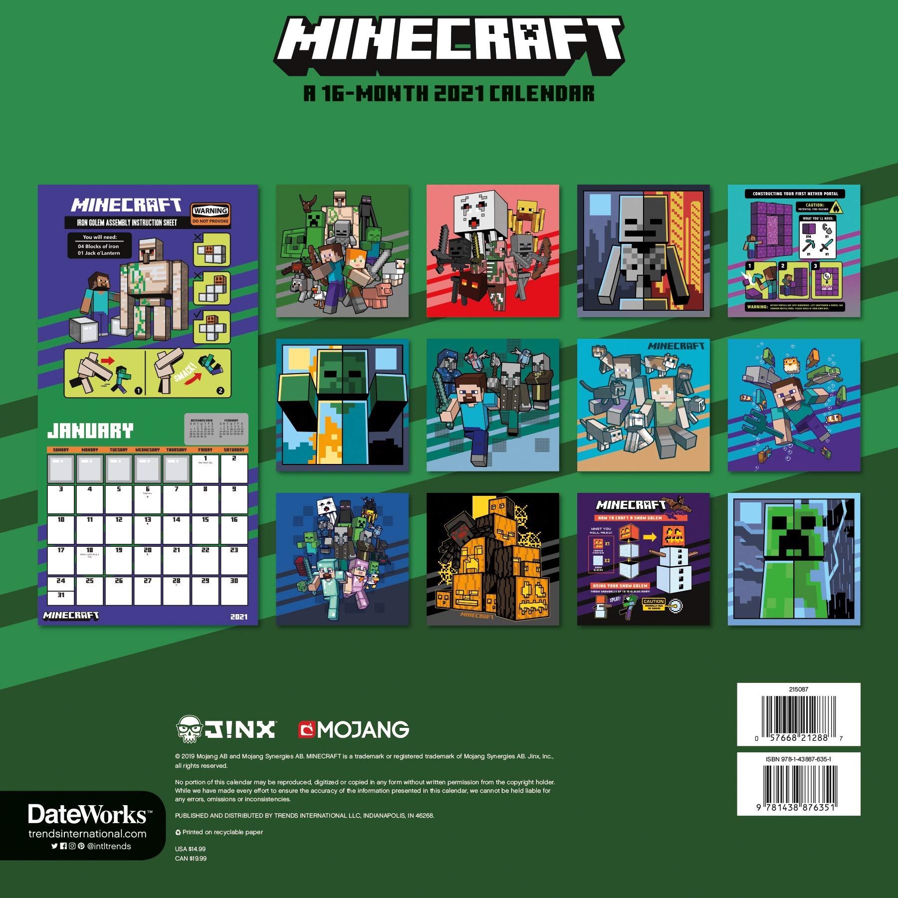 Minecraft Calendar  Amazon.com.br