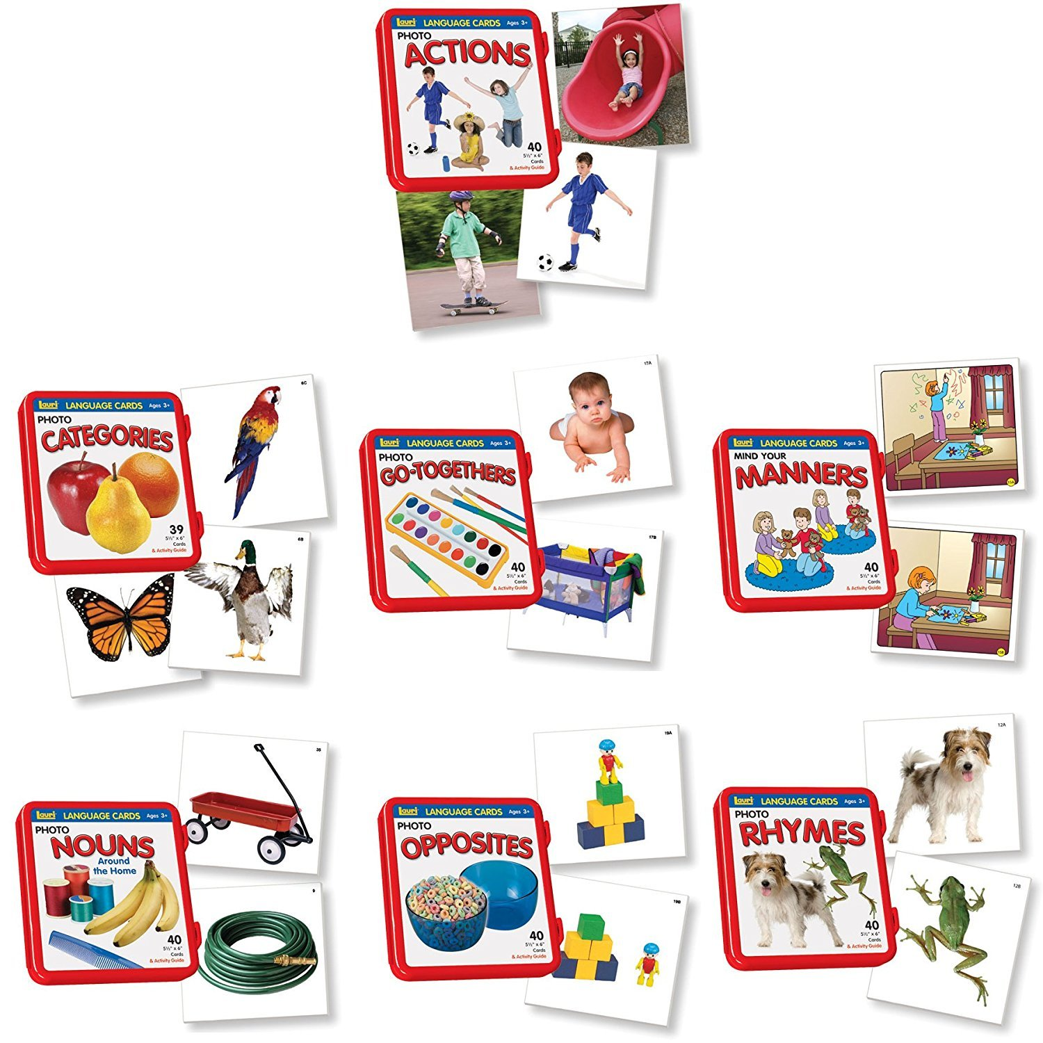 低価格で大人気の [ラウリ]Lauri Language Cards Language Bundle with Actions, Categories, Actions, Rhymes GoTogethers, Manners, Nouns, Opposites, Rhymes 7133270 [並行輸入品] B0179ZCL0U, 京都電業株式会社:de4a196e --- mrplusfm.net