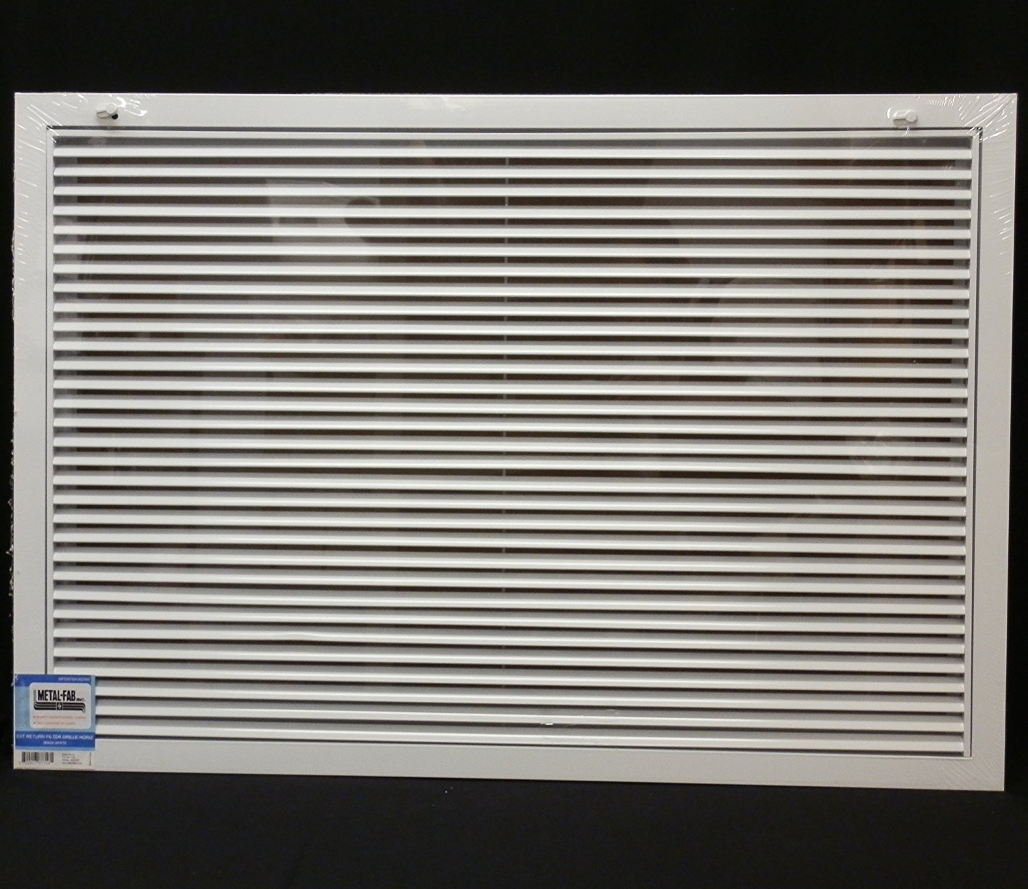 30'' x 24'' Aluminum Return Filter Grille - Easy Air FLow - Linear Bar Grilles [Outer Dimensions: 32.5''w X 26.5''h]