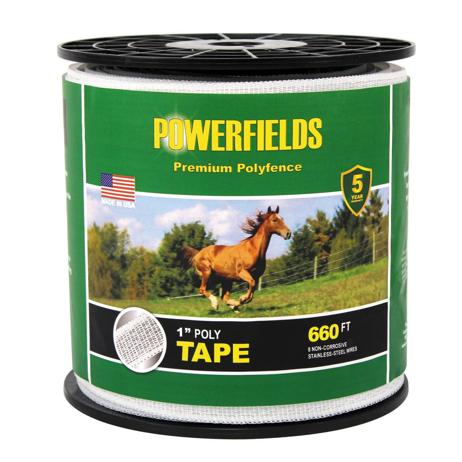 Powerfields EW10-330 1-Inch Polytape, 660-Feet, White