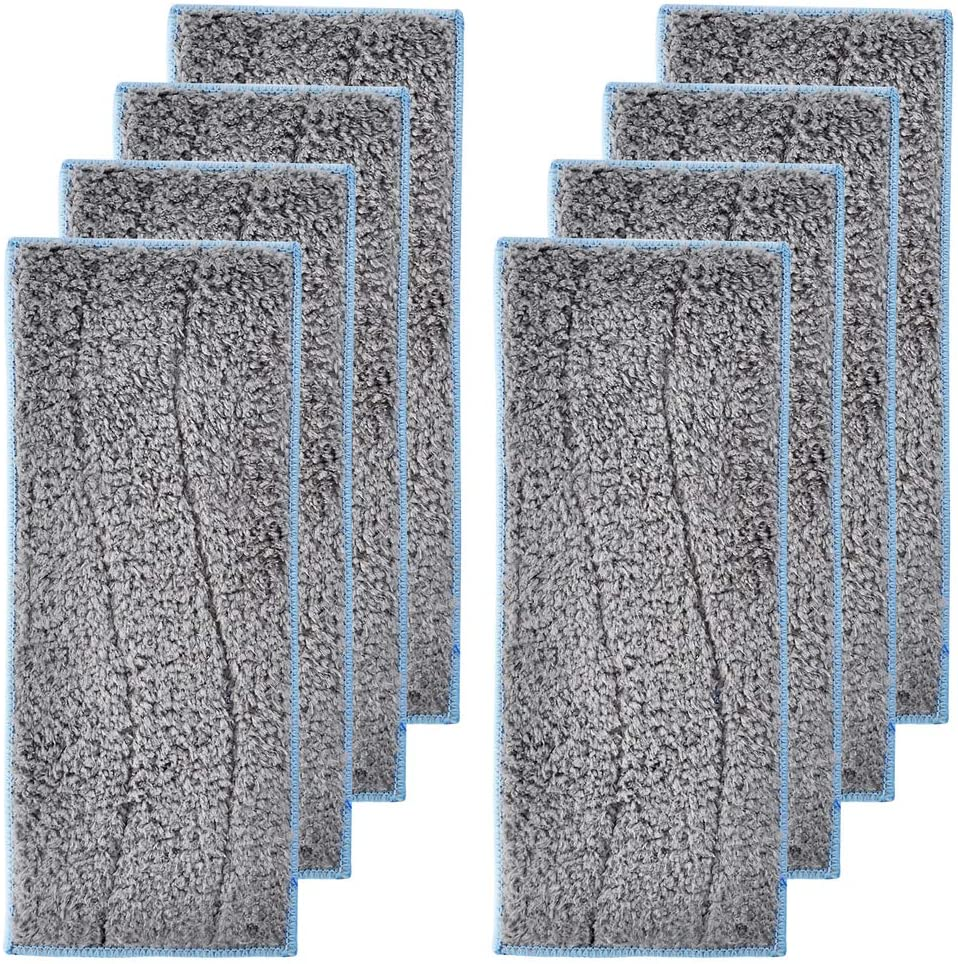 LesinaVac 8 Pack Replacement Washable Wet Mopping Pads Compatible with iRobot Braava Jet M6 (6110)