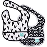 Bumkins Starter Bib, Baby Bib Infant, Waterproof, Washable, Stain and Odor Resistant, 3-9 Months, 2-Pack – Hearts & XOXO