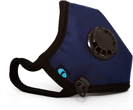 Navy Mask Cambridge With Respirator N95 Basic Company Washable Adjustable Straps Anti Pollution