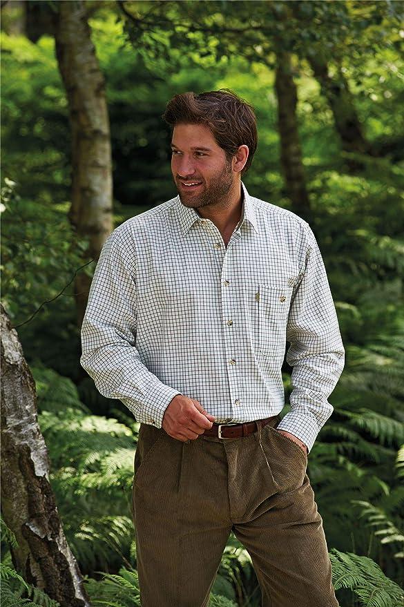 Walker and Hawkes Stile Country a Quadri Uomo Camicia a Maniche Lunghe in 100/% Cotone