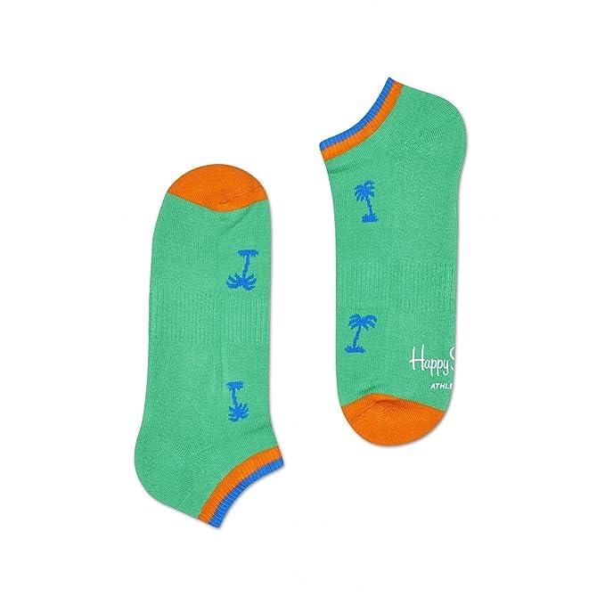 Happy Socks Palm Beach Atletismo De Entrenador Calcetines De Los Hombres, Verdes Un Tamaño