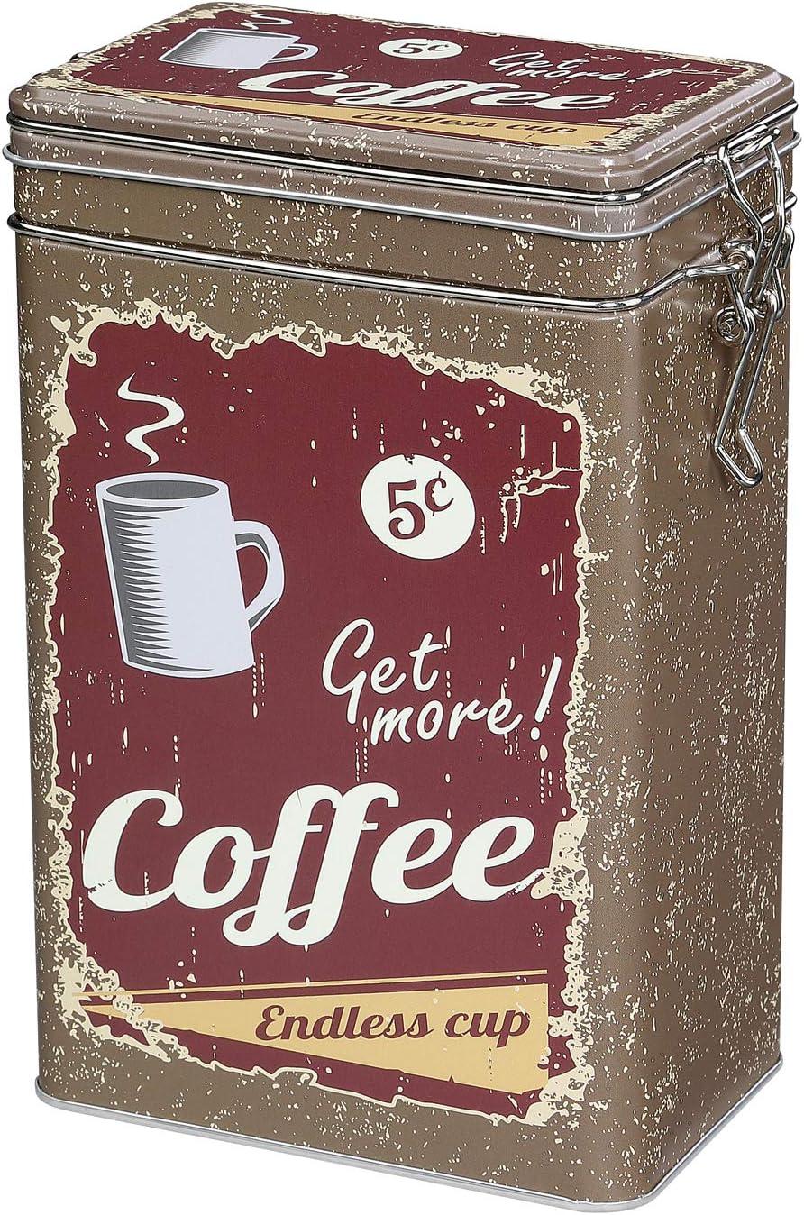 Zassenhaus Coffee Storage Tin with Airtight Silicone Seal, Brown, 1.1 Pound