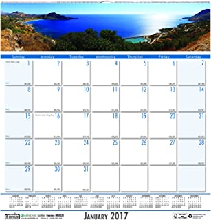 """product image for House of Doolittle 2017 Monthly Wall Calendar, Earthscapes Coastlines, 12 x 12"""" (HOD328-17)"""