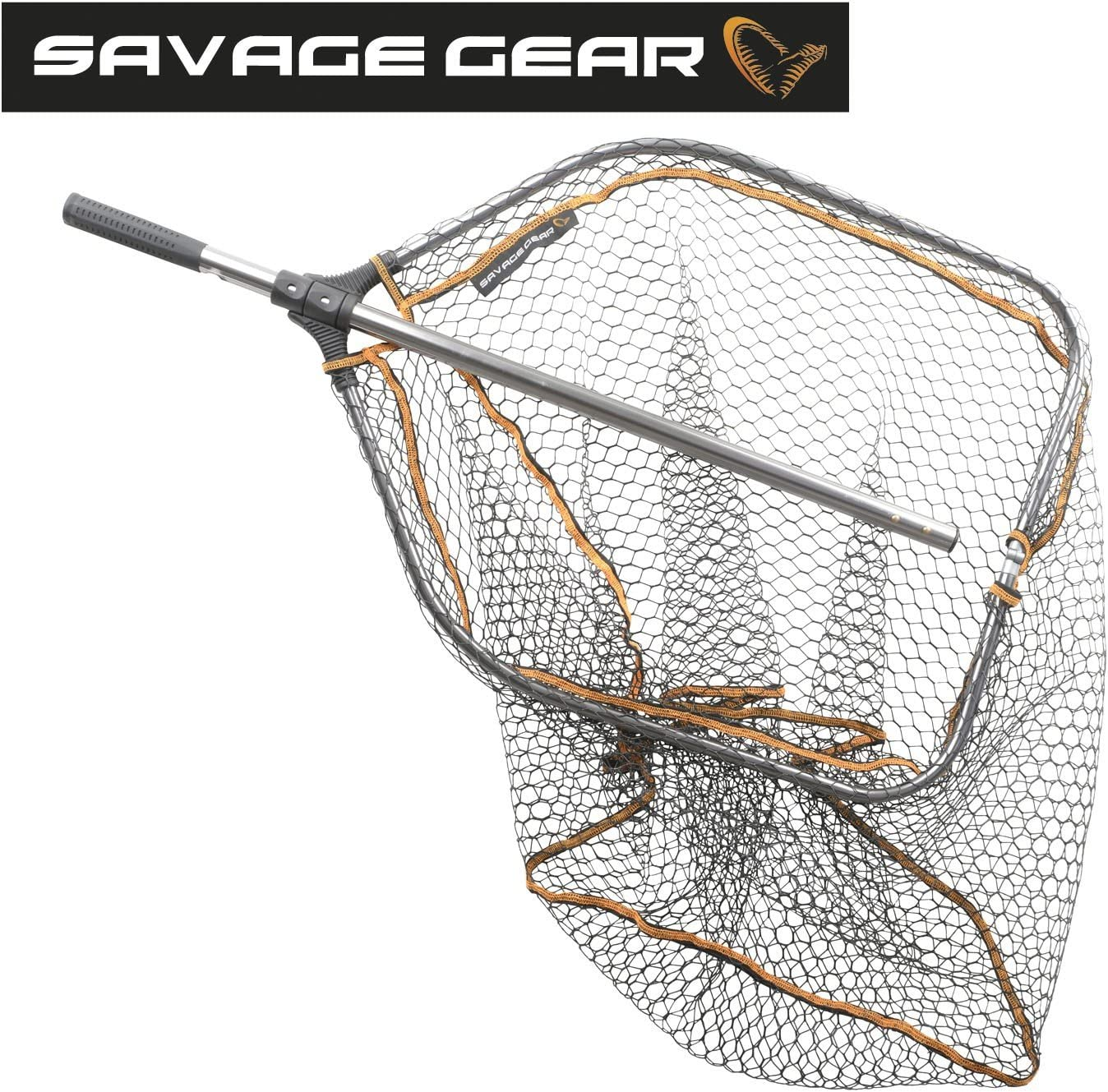 Savage Gear Folding Rubber Mesh Landing Net Fishing XL