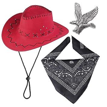 Haichen Western Cowboy Costume Accessories Set Sombrero de Vaquero ...